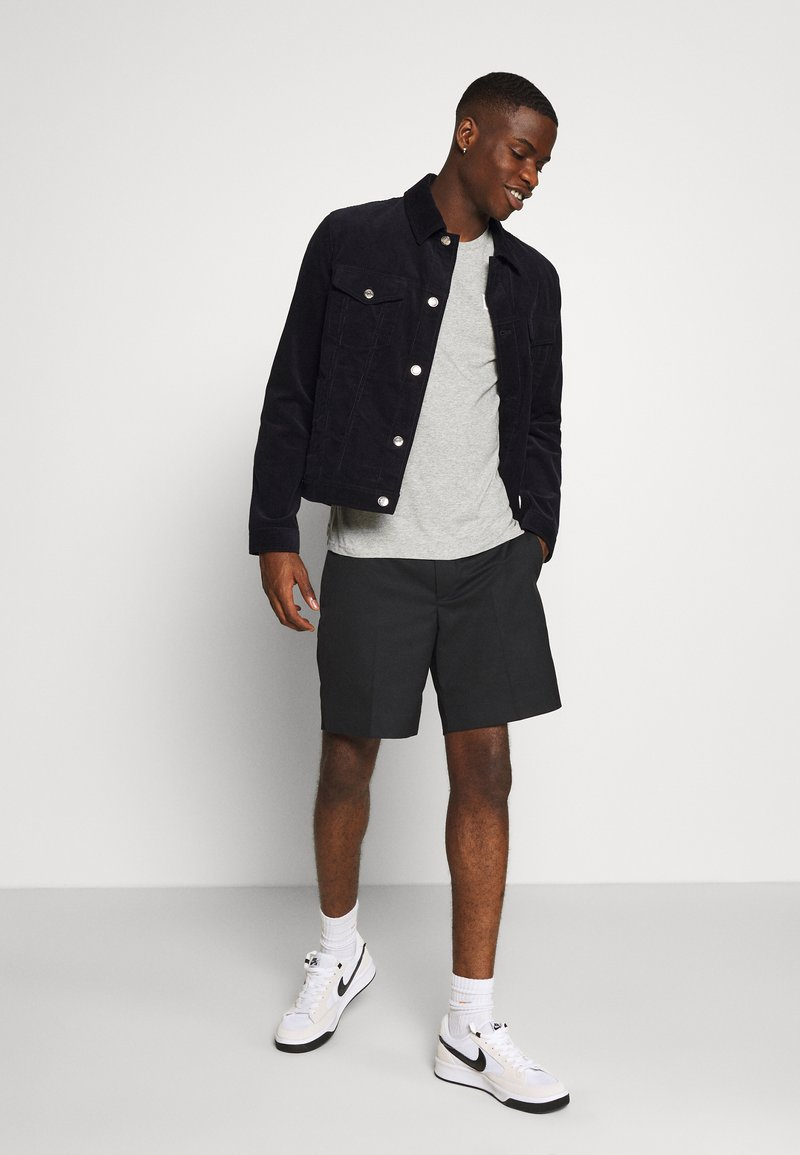 Lee - TWIN PACK - T-shirt z nadrukiem - black/grey