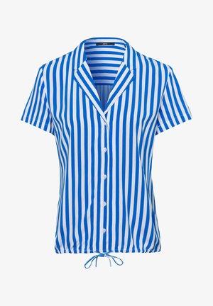 MIT STREIFEN - Button-down blouse - fresh blue