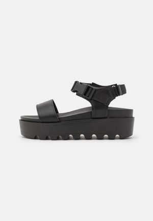 VEGAN CORLIS CHUNKY STRAP - Sandalen met plateauzool - black