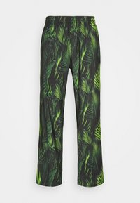 9N1M SENSE - SPECIAL PIECES PANTS UNISEX - Trousers - black/green leaf - 0
