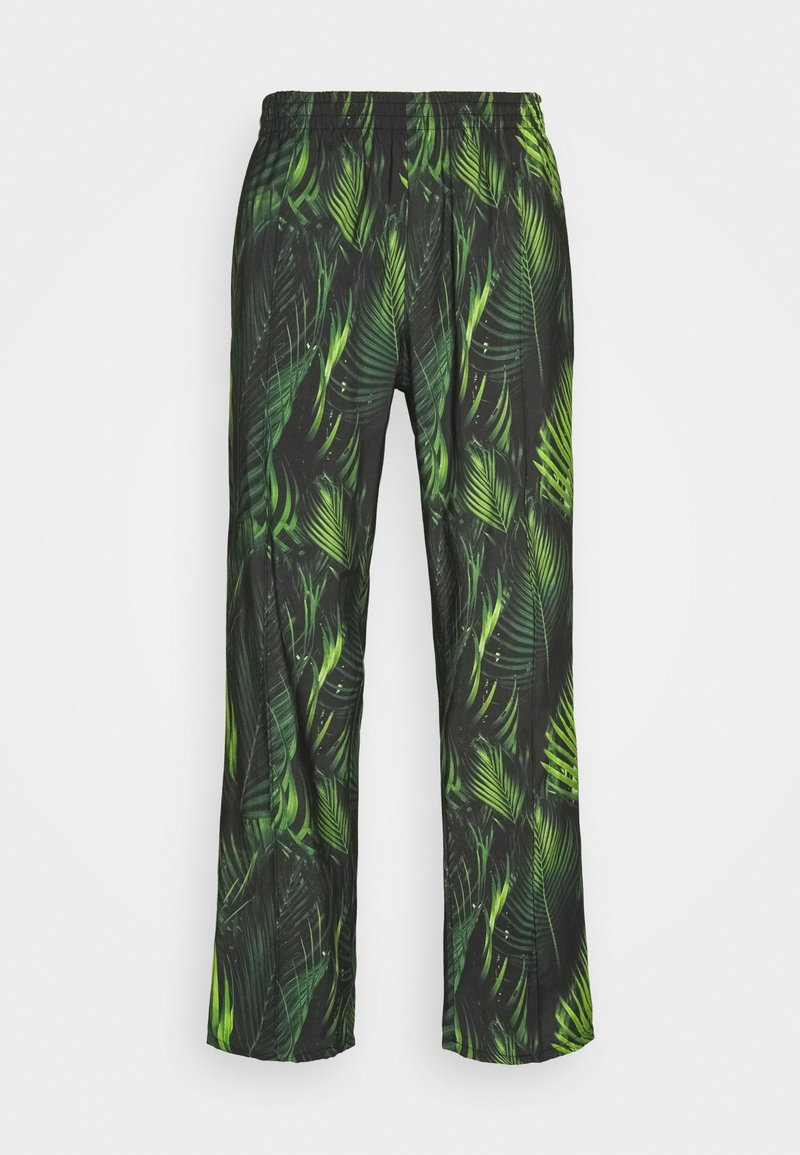 9N1M SENSE - SPECIAL PIECES PANTS UNISEX - Trousers - black/green leaf