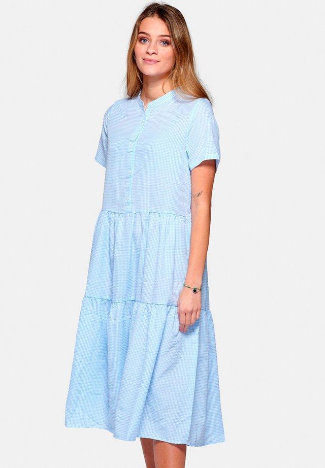 LIPE - Shirt dress - lightblue checks