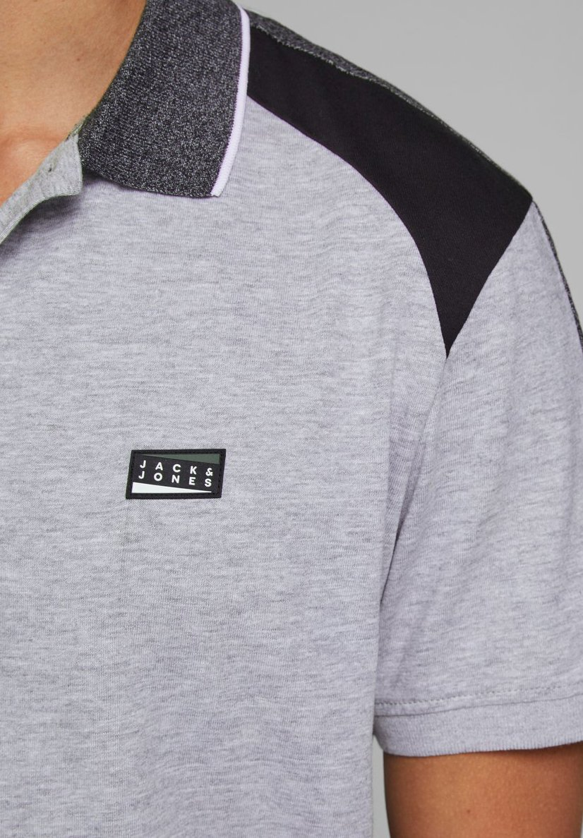 Jack & Jones Polo shirt - light grey melange mKVVq