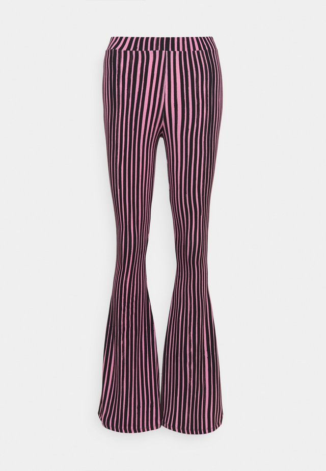 Trousers - pink/black