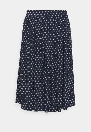 SOFT MOSS - A-line skirt - blue