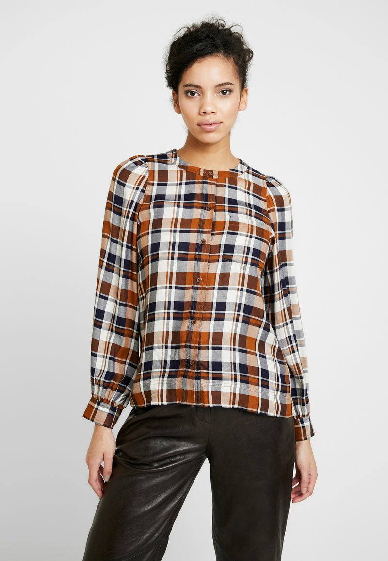 Whistles - CHECK PUFF SLEEVE SHIRT - Blouse - multi
