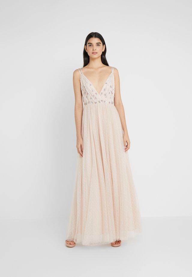 NEVE EMBELLISHED BODICE DRESS - Abito da sera - pearl rose