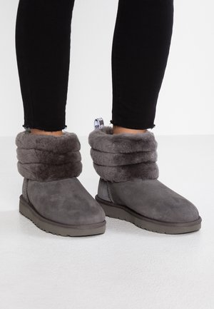 FLUFF MINI QUILTED - Classic ankle boots - charcoal