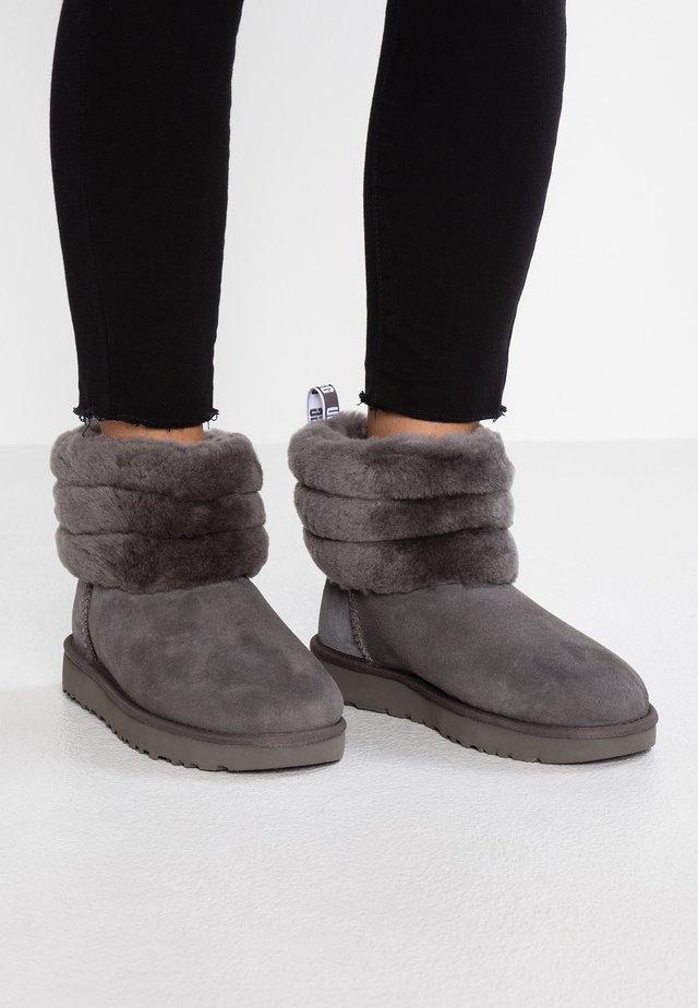 FLUFF MINI QUILTED - Korte laarzen - charcoal