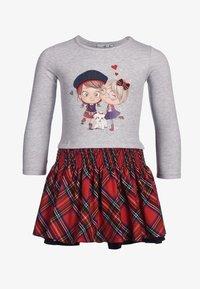 happy girls - Print T-shirt - grey melange - 0