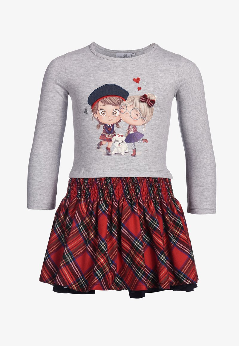 happy girls - Print T-shirt - grey melange