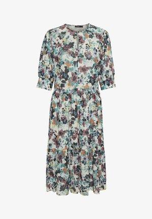 Korte jurk - vivid floral print white