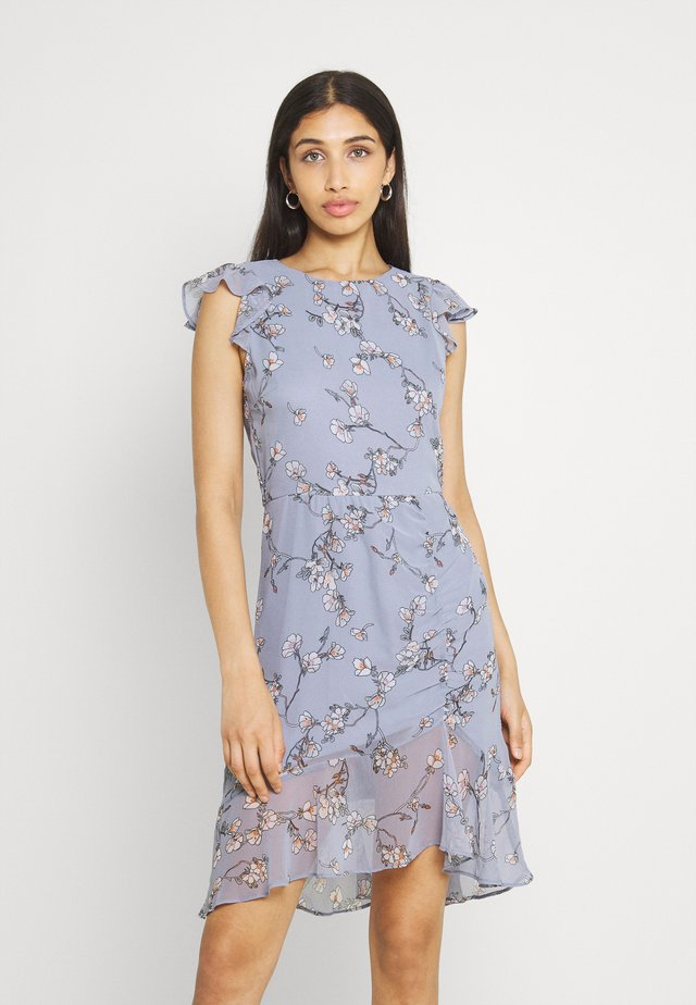 RUCHED FLOUNCE DRESS - Cocktailjurk - multi-coloured
