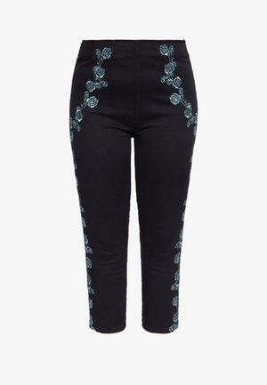 MIT NECKHOLDER UND GESTICKTE - Trousers - schwarz