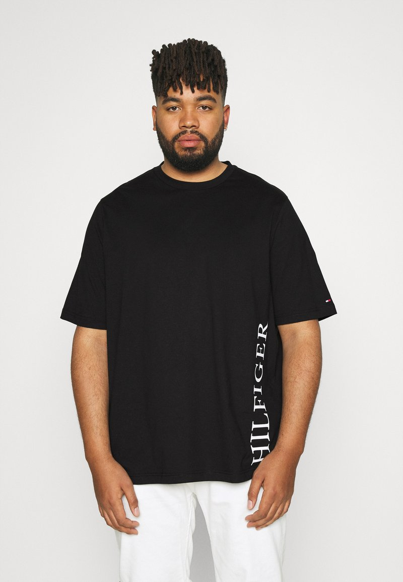 Tommy Hilfiger - SMALL LOGO TEE - Print T-shirt - black