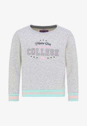 Sweatshirt - grau melange mint