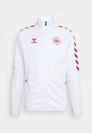 DÄNEMARK DBU FAN 2020 ZIP JACKET - Training jacket - white