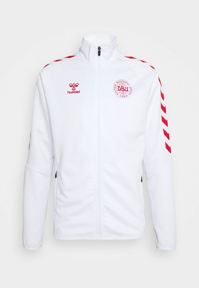 DÄNEMARK DBU FAN 2020 ZIP JACKET - Sportovní bunda - white