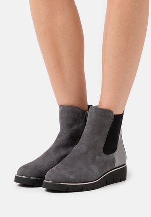 Wedge Ankle Boots - granite