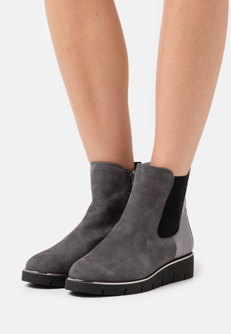 Caprice - Wedge Ankle Boots - granite