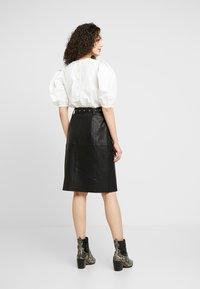 YAS - YASANDREA NAPPALON SKIRT - A-line skirt - black - 2