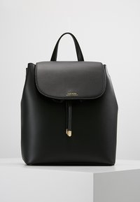 Lauren Ralph Lauren - SUPER SMOOTH FLAP - Rucksack - black/crimson - 0