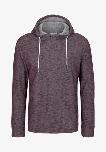 Hoodie - dusty wildberry red