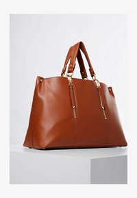 Guess - HANDTAS LAPIS ECHT LEER LUXE - Handbag - светло-коричневый - 2