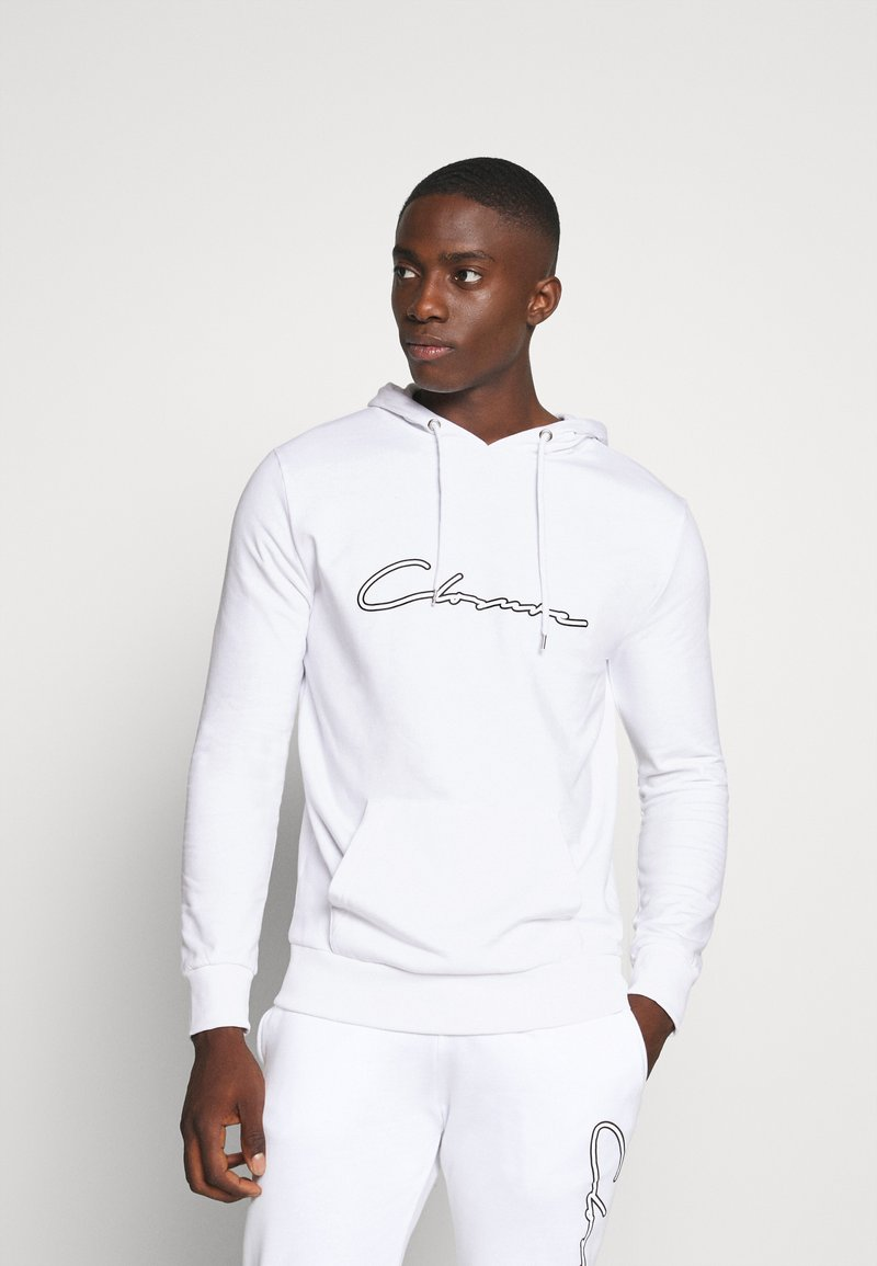 CLOSURE London - DOUBLE SCRIPT TRACKSUIT SET - Sweat à capuche - white