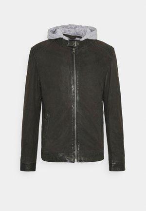 PARK - Kožená bunda - antic brown