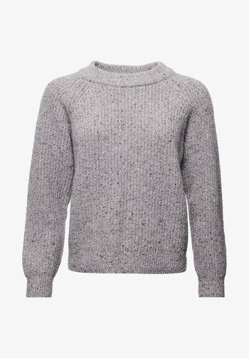 FREYA TWEED - Sweter - light grey tweed