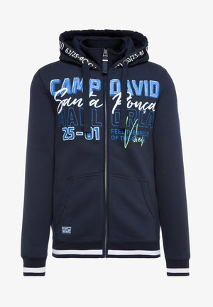 MIT KAPUZE UND LOGO-ARTWORKS - Zip-up hoodie - blue navy