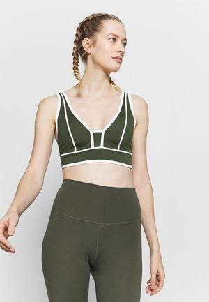 YOURE A PEACH BRA - Light support sports bra - army