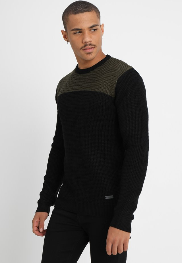 HERMES - Jumper - black/khaki