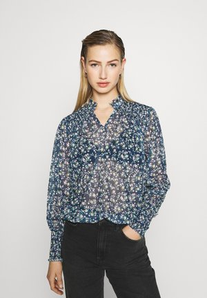 PRINTED BLOUSE - Blouse - blue