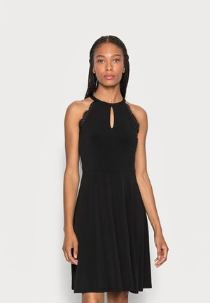 KEYHOLE HALTER NECK OCCASION DRESS - Day dress - black