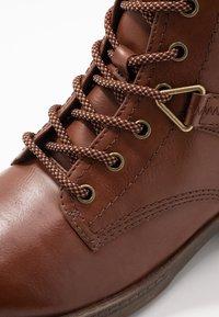 Tamaris - Lace-up ankle boots - cognac - 2