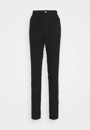 COMFORT STRETCH SPLIT HEM STRAIGHT  - Straight leg -farkut - black