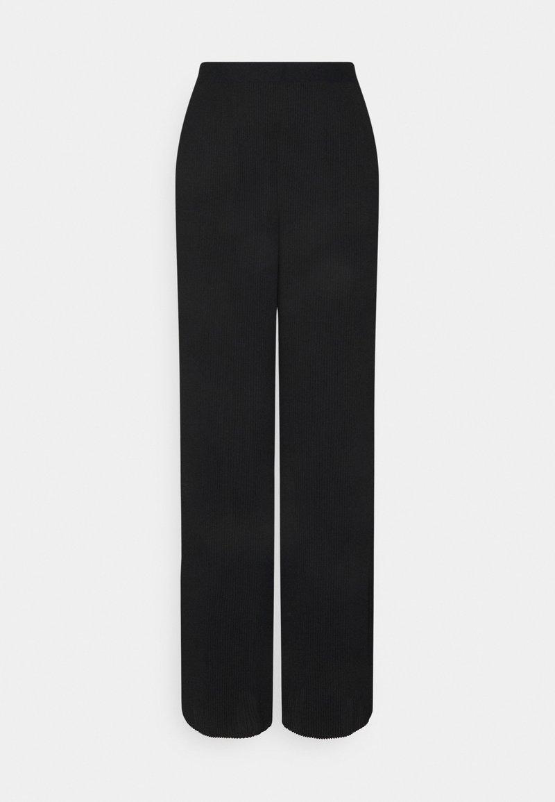 Vero Moda Tall - VMYOLU PLEAT WIDE PANT  - Kangashousut - black