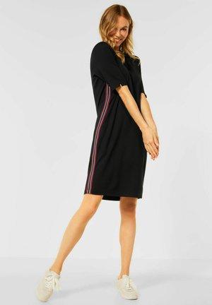 MIT COLLEGE STREIFEN - Day dress - schwarz