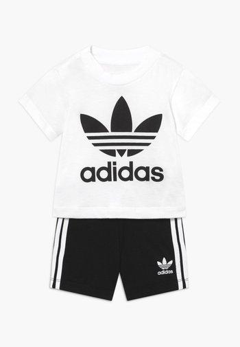 TEE SET UNISEX - Shorts - white/black