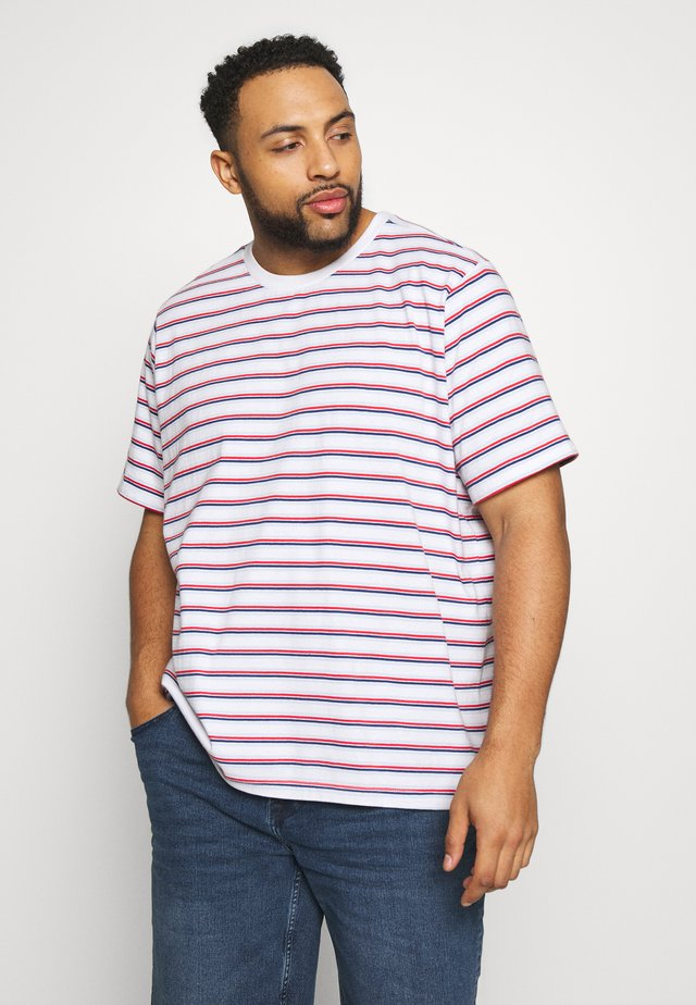 STRIPED PLUS - Print T-shirt - multi