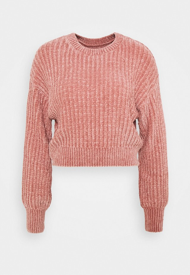 CROPPED BLOUSON - Maglione - old rose