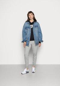 Nike Sportswear - HOODIE - Hoodie - black/white - 1