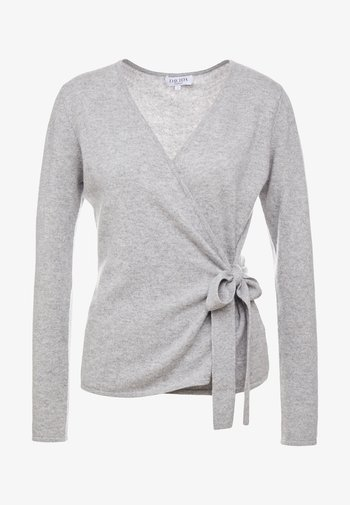WRAP CARDIGAN - Cardigan - light grey