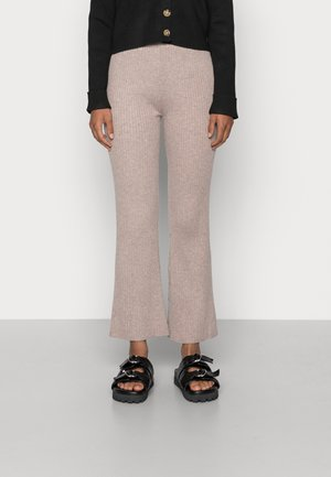 KYLIE TROUSER FLARE TROUSERS - Trousers - taupe marl