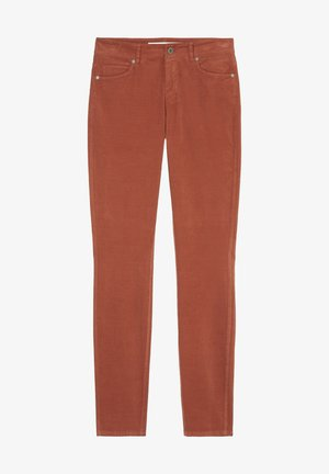ALBY SLIM - Trousers - burnt brick