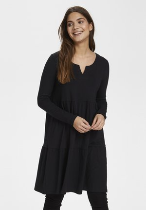 KAPETRA LS DRESS - Jersey dress - black deep