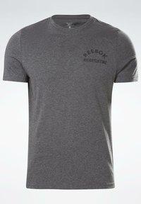 Reebok - REEBOK WEIGHTLIFTING T-SHIRT - T-shirt imprimé - grey - 6