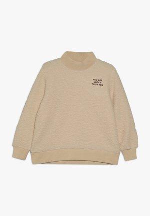 YOU ARE LUCKY  - Sweatshirt - sand/aubergine